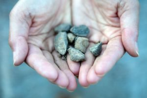 Pebbles in hand